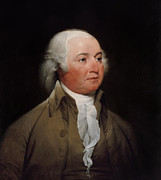 Founding Fathers Painting Metal Prints - President John Adams Metal Print by War Is Hell Store