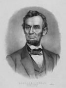 States Drawings Prints - President Lincoln Print by War Is Hell Store