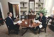 Vice Presidents Framed Prints - President Reagan And Vice-president Framed Print by Everett