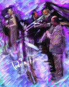 Jazz Painting Originals - Purple Jazz by Donald Pavlica