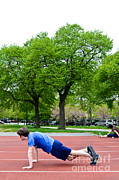 Turf Art - Push-ups by Photo Researchers