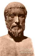 Pythagoras Posters - Pythagoras, Greek Mathematician Poster by Photo Researchers