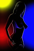 Nude Digital Art - Rainbow Girl by Stefan Kuhn