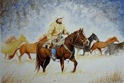 Ranch Drawings - Ranch Rider by Jimmy Smith