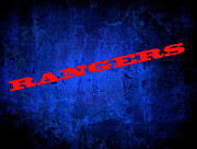 Base Balls Digital Art Posters - Rangers Poster by Malania Hammer