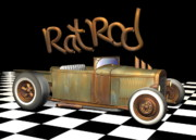 Custom Automobile Digital Art Posters - Rat Rod 2 Poster by Stuart Swartz