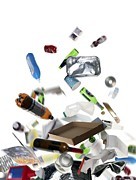 Rubbish Prints - Recyclable Household Waste Print by Tek Image