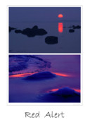 Sunset; Ice Prints - Red Alert Print by Michael Mogensen