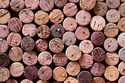 Wine Cellar Photo Prints - Red Wine Corks Print by Frank Tschakert