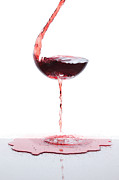 Pouring Wine Photos - Red Wine by Floriana Barbu