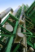Production Photo Framed Prints - Refinery Detail Framed Print by Carlos Caetano