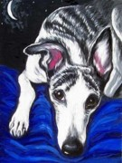 Whippet Originals - Reggie At Night by Billie Mann