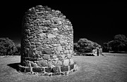 Historic Ruins Photos - Remains Of The 6th Century Round Tower At The Monastic Site At Nendrum On Mahee Island County Down by Joe Fox