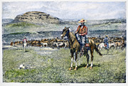 Remington Prints - Remington: Cowboy, 1888 Print by Granger