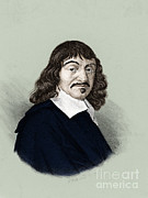 Famous Person Portrait Framed Prints - Rene Descartes, French Polymath Framed Print by Science Source