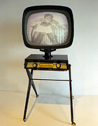 Old Tv Framed Prints - Retro TV Framed Print by Matthew Bamberg