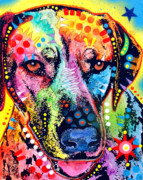 Colorful Animal Paintings - Rhodesian Ridgeback by Dean Russo