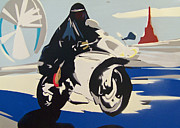 Hijab Paintings - Rider on the Storm by Paul Rolfes