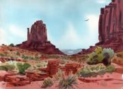 Southwestern Landscape Posters - Right Mitten Poster by Donald Maier