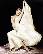 Gold Lame Photo Prints - Rita Hayworth, 1940s Print by Everett