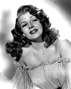 Bare Shoulder Metal Prints - Rita Hayworth, Portrait Metal Print by Everett