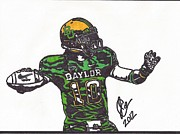 Player Drawings Posters - Robert Griffin III Poster by Jeremiah Colley