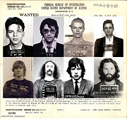 Fbi Photo Prints - Rock and Rolls Most Wanted Print by Lee Dos Santos