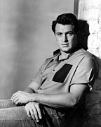 1950s Portraits Photo Metal Prints - Rock Hudson, 1950s Metal Print by Everett
