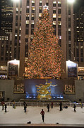 Christmas Lights Art - Rockefeller Center And The Famous by Taylor S. Kennedy