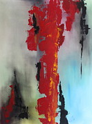 Pallet Knife Prints - Rojo Print by Eric Chapman