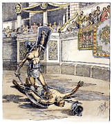 Roman Sport Framed Prints - Roman Gladiators Framed Print by Granger