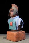 Europe Ceramics Originals - Roman Legionaire - Warrior - ancient Rome - Roemer - Romeinen - Antichi Romani - Romains - Romarere by Urft Valley Art