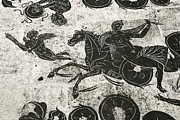 Myths Art - Roman Mosaic, Ostia Antica by Sheila Terry