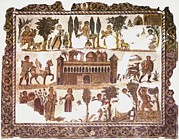 Roman Archaeology Art - Roman Mosaic by Sheila Terry