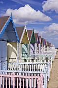 Front Porch Framed Prints - Row of Colorful Beach Homes Framed Print by Jeremy Woodhouse