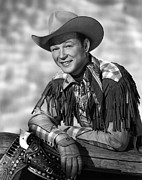 Leather Gloves Prints - Roy Rogers, Ca. 1940s Print by Everett