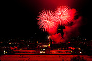Greenwich Metal Prints - Royal Greenwich Fireworks Metal Print by Dawn OConnor