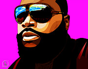 Maybach Music Framed Prints - Rozay Framed Print by The DigArtisT
