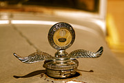 Brand Prints - Rusted antique Ford car brand ornament Print by ELITE IMAGE photography By Chad McDermott