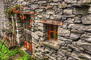 Rustic House Framed Prints - Rustic house in stone Framed Print by Mats Silvan