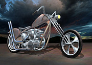 Chopped Prints - Rustys Chopper Print by Stuart Swartz