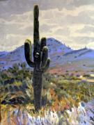 Southwestern Landscape Posters - Saguaro Poster by Donald Maier