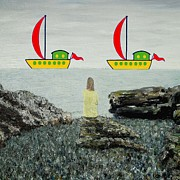Girl Mixed Media - Sailing by Patrick J Murphy