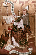 Evangelical Paintings - Saint Augustine (354-430) by Granger