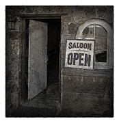 Nightclub Posters - Saloon Open Poster Poster by John Stephens