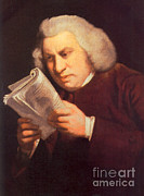 Bad Drawing Framed Prints - Samuel Johnson, English Author Framed Print by Photo Researchers