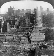 Rubble Photos - San Francisco Earthquake by Granger