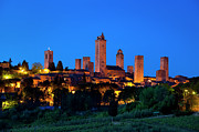 Watch Tower Framed Prints - San Gimignano Framed Print by Brian Jannsen