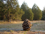 Never Forget Prints - Sandstone Cairn nature art Sculpture Print by Adam Long