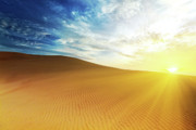 Sahara Sunlight Posters - Sandy desert Poster by MotHaiBaPhoto Prints